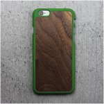 Pouzdro Woodcessories EcoCase Casual iPhone 6 / 6s walnut+ zelené