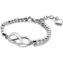 Hot Diamonds stříbrný náramek Infinity Bead Pearl DL529