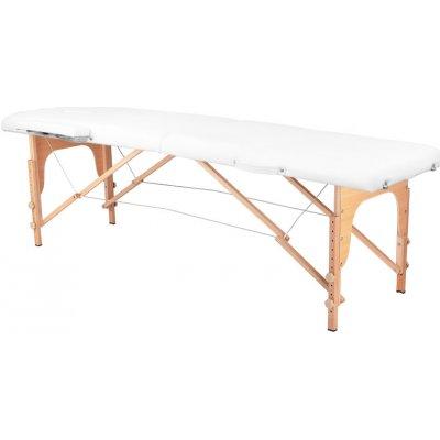 Activeshop Skládací masérské lehátko komfort 2 dřevěné bílé