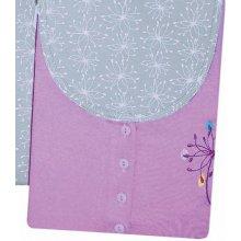 mateřské pyžamo odkvetlá pampeliška kapri tříčtvrteční fialová