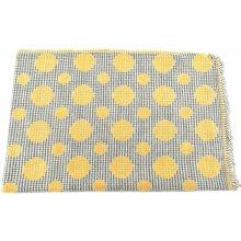 1df361fae05 Arteddy Dámská zimní puntíkovaná šála žlutá