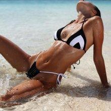 V&V Cathi dvoudílné plavky černá
