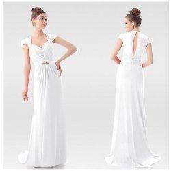 Ever Pretty Noblesní svatební či společenské dámské šaty s krajkou 9867 bílé 4d02a7fbd7