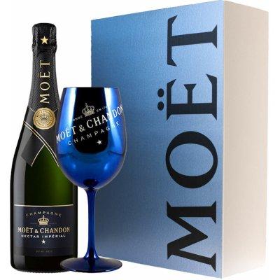 Moët & Chandon Imperiál Brut Nectar (0,75l) v dárkové krabičce s modrou skleničkou