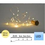 TFY NO74492 Vánoční micro LED osvětlení řetěz 12ks, 20LED, 1,9m, žlutá