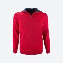 KAMA Unisex svetr merino 4105 Červená