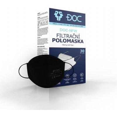 DOC DOC-NFW 3D Polomaska respirátor FFP2 NR Černá 30 ks