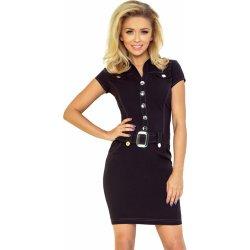 45df0d53bc2 Dámské šaty Numoco dámské šaty s knoflíky 142-1 černá