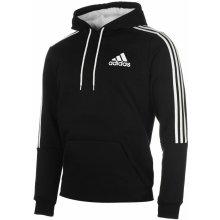 Adidas 3 Stripes Logo Over The Head Hoody Mens Black/White