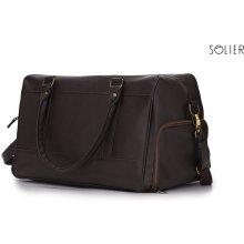 Felice Solier pánská hnědá taška dark brown 5e3692b88b6