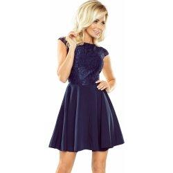 13fa43225a19 Numoco dámské elegantní šaty s krajkou 157-1 modrá od 1 099 Kč ...