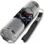 Euroswan Dětská hliníková LED baterka Batman vs. Superman šedá Alu 9x2,5 cm
