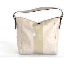 Sergio Tacchini Fashion kabelka A4 broušená béžová