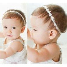 Beyou Čelenka pro miminka s květinkami bílá