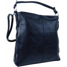 Moderní dámská kombinovaná kabelka se stříbrnou linkou 3067-DE modrá