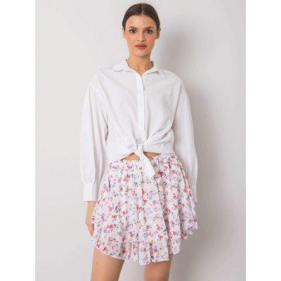 Dámská květinová sukně mi-sd-19332-5.73p white