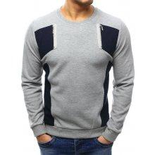 BASIC Pánský svetr (wx1027) šedý