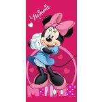 Jerry Fabrics Dětská osuška Minnie dark pink froté-bavlna 70x140 cm
