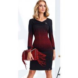 25bdf56c33a Dámské šaty Ajso zeštíhlující dámské úpletové šaty s rukávem