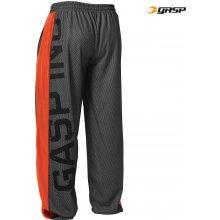 Gasp NO1 MESH PANT BLACK/FLAME – tepláky Gasp černo-oranžové