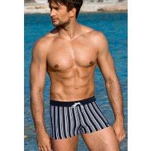 Atraktivní pánské plavky boxerky Lorin 722 černé bílé