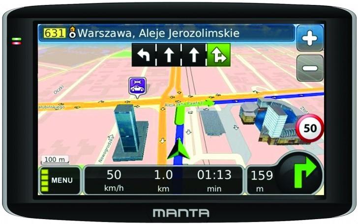 navigace do auta Manta GPS9472