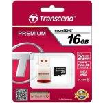 Transcend microSDHC 16GB Class 10 + USB čtečka TS16GUSDHC10-P3