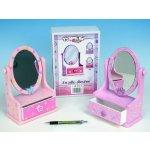 Teddies Zrcadlo šperkovnice hračka po malé parádnice dřevěná hračka šperkovnice pro holky