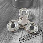 Fidget spinner kovový stříbrný