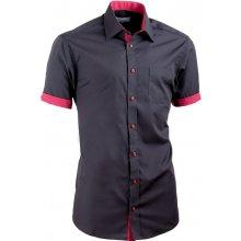 Aramgad Černá košile kombinovaná vypasovaná 40141