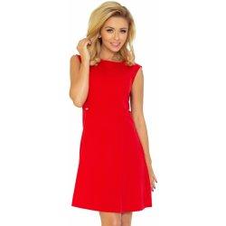 Dámské šaty Numoco dámské šaty bez rukávů s širokou sukní středně dlouhé  červená 26a6d30ab7