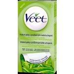Veet Wax Strips voskové depilační pásky pro suchou pokožku (Aloe Vera & Parfum of the Lotus Flower) 12 Ks