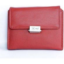 Kvalitní kožená peněženka HMT červená