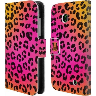 Pouzdro HEAD CASE NOKIA LUMIA 630 / LUMIA 630 DUAL Zvířecí barevné vzory růžový leopard