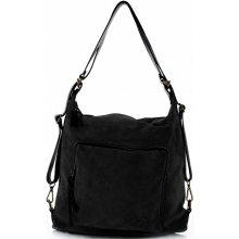 Vittoria Gotti kabelka batůžek přírodní kůže černá