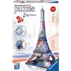 3D puzzle RAVENSBURGER 216 dílků Eiffelova věž 3D (vlajková edice) Heureka.cz