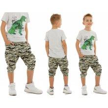 Chlapecké baggy šortky světlé army