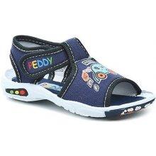 Peddy chlapecké sandály s autíčkem - modrá d7355bb618