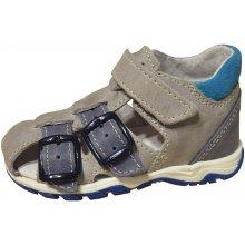 Jonap Chlapecké kožené sandály šedé