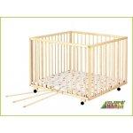 Puppolina Dětská dřevěná ohrádka 120x120 cm borovice