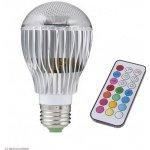 RGB LED Žárovka 5W kulatá E27 3 ks