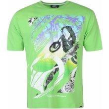 No Fear Motocross Graphic T Shirt Mens Green Stunt