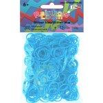 RAINBOW LOOM Original gumičky 300 kusov trblietavá modrá