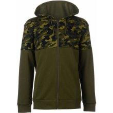 Puma Rebel AOP Full Zip Hoodie Olive dc3db01ec7