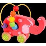 Bigjigs Toys labyrint na kolečkách slon