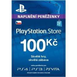 Sony PlayStation Store předplacená karta 100 CZK