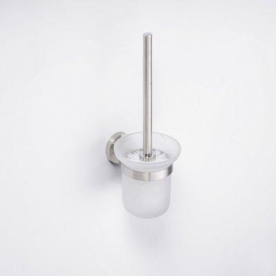Bemeta Neo stainless WC štětka miska sklo na postavení 104113105 broušená nerez