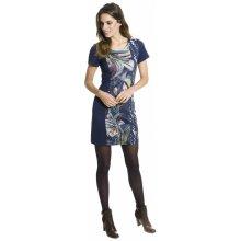 93fa1ac7be47 Smash krátké pouzdrové šaty s krátkým rukávem se vzorem Dalia tmavě modrá