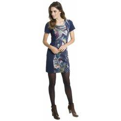 91a38360f63 Smash krátké pouzdrové šaty s krátkým rukávem se vzorem Dalia tmavě modrá