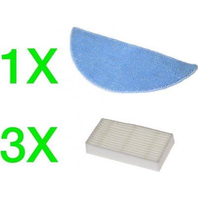 EVOLVEO RoboTrex H5, H6, příslušenství (3 ks HEPA filtr + 1 ks XXL mop z mikrovlákna) - RTX-ACP